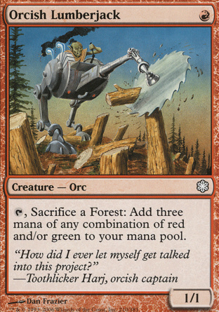 Orcish Lumberjack in Coldsnap Theme Decks